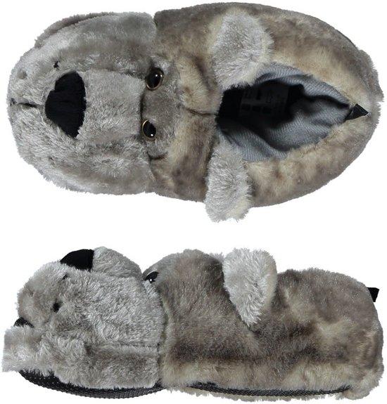1bb35e395ad Dieren sloffen/pantoffels grijze beer voor dames - volwassenen 41-42