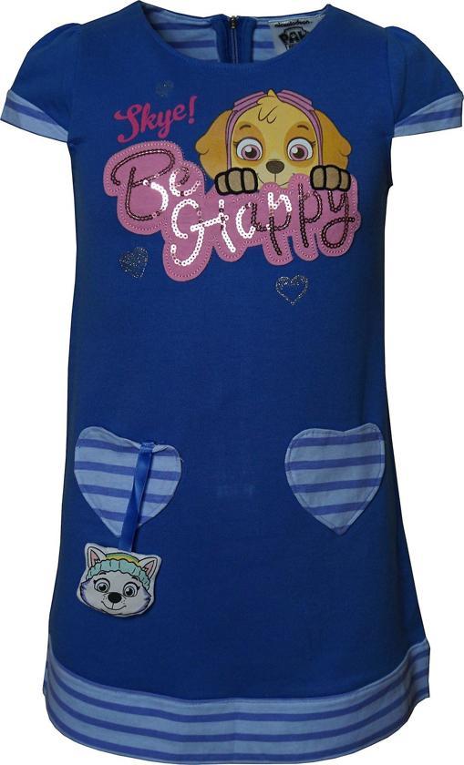 Nickelodeon Paw Patrol - Kinder/Kleuter- zomer - jurk  - Blauw - maat 104