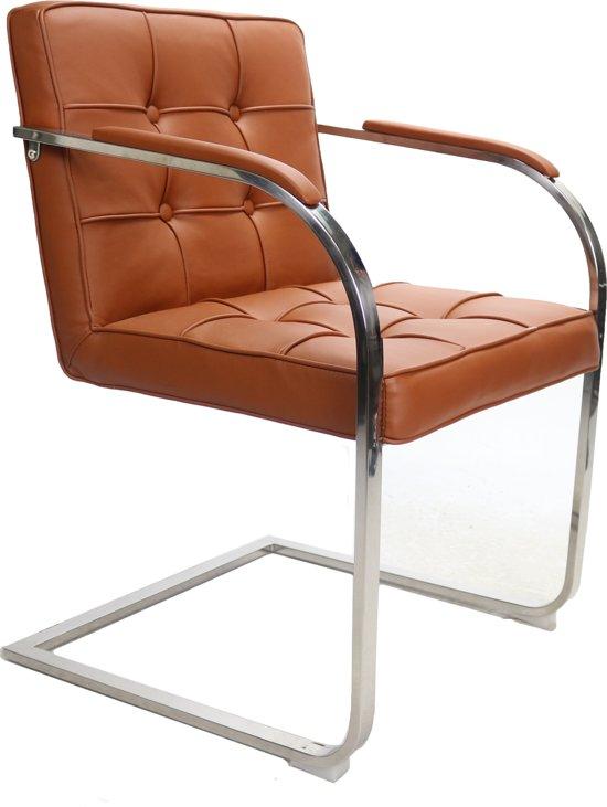 moderne bauhaus 9 vaks design stoel cognac. Black Bedroom Furniture Sets. Home Design Ideas