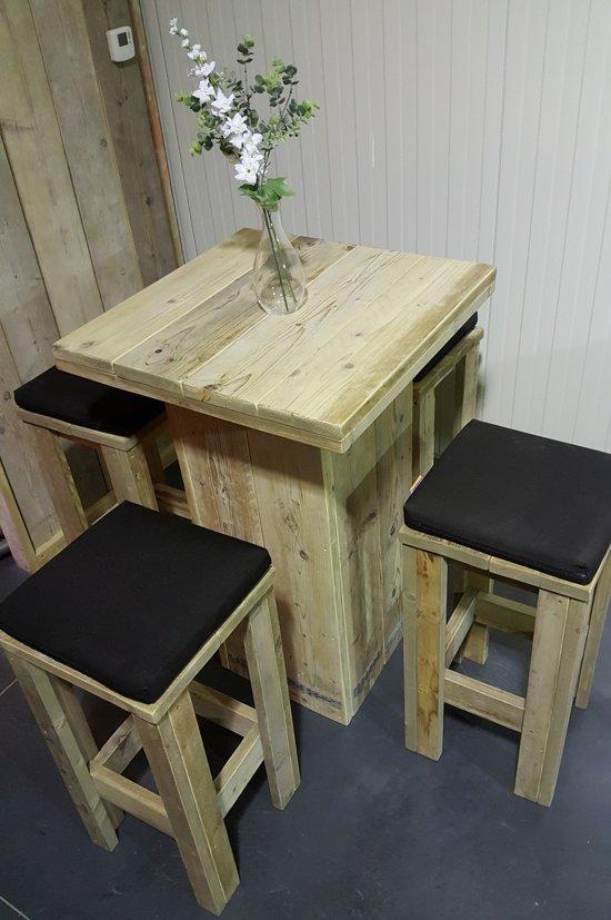 Goede bol.com | Hoge bar(receptie)tafel + 4 barkrukken in gebruikt FQ-58