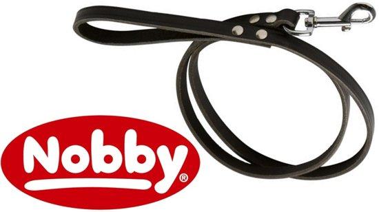Nobby lijn softleer bruin 1,2 x 200 cm - 1 ST