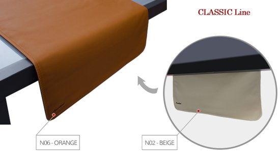 Pavelinni tafelloper Classic 45x120cm Beige/Orange