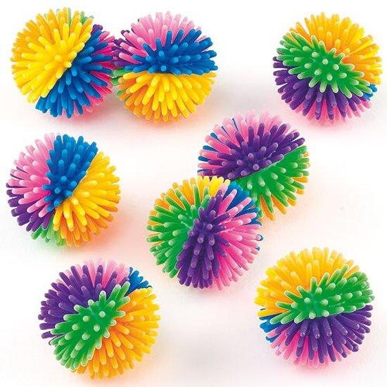 Stekelige regenboogballen  (8 stuks per verpakking) Valentinaa