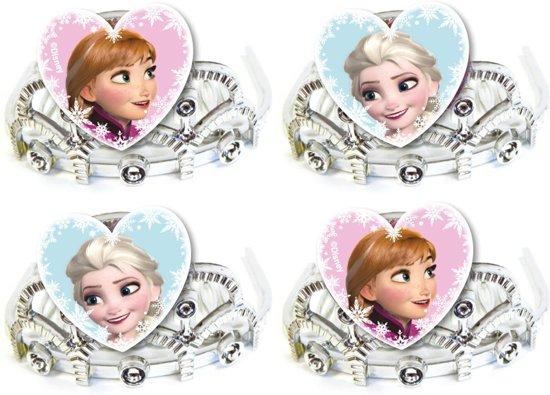 Disney Frozen Tiara's Zilver 4 Stuks