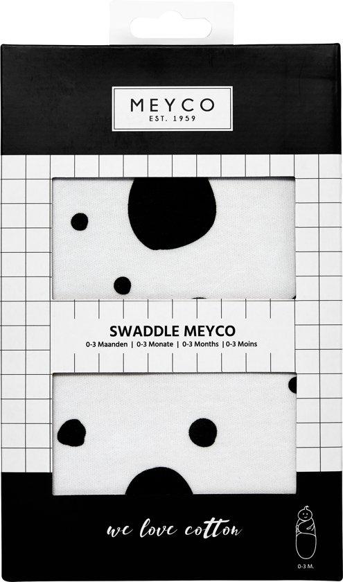 SwaddleMeyco Inbakerdoek - 0-3 maanden - Dots zwart