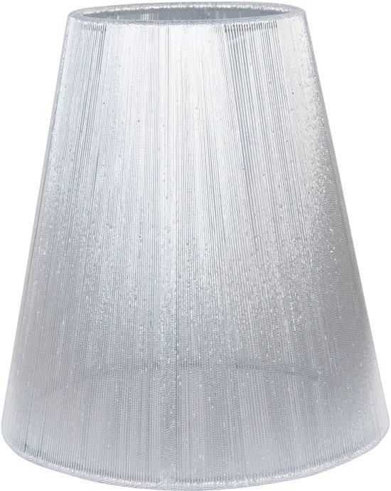 Clayre & Eef Klem Lampenkap - Ø14 x 15 cm - Zilver