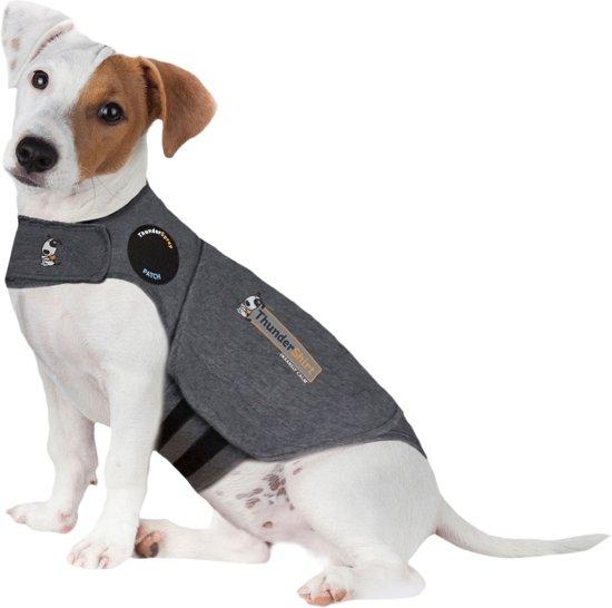 Thundershirt Antistress Vest - Natuurlijk middel tegen vuurwerkangst - Hond - Grijs - S - 43-53 cm