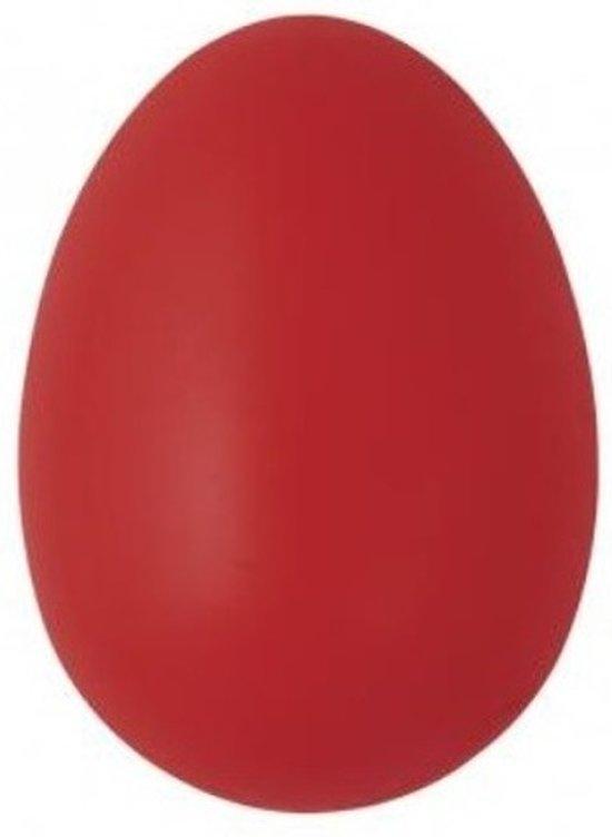 Decoratie eieren rood 6 cm 25 stuks - Paasversiering