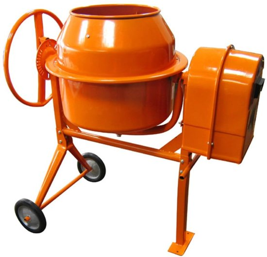 vidaXL Betonmolen Betonmolen met een trommel van 140 liter 140071