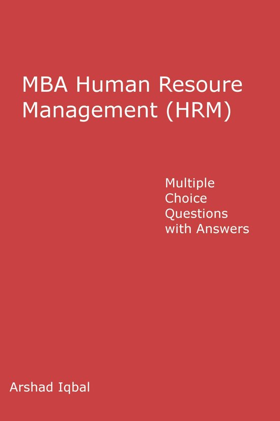 bol com | Human Resource Management (HRM) Multiple Choice