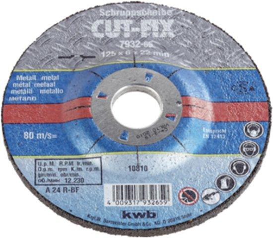 KWB Cut-Fix Afbraamschijf - Metaal - Ø 125 x 6 mm