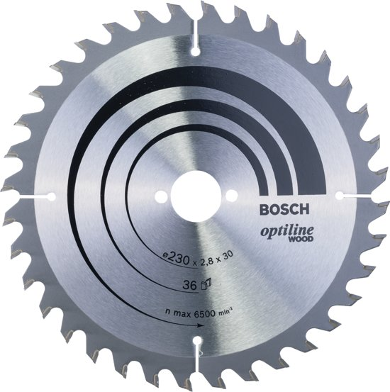 Bosch - Cirkelzaagblad Optiline Wood 230 x 30 x 2,8 mm, 36