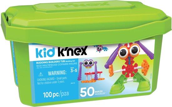 Kid K'NEX Opbergdoos - 100 Onderdelen - Bouwset