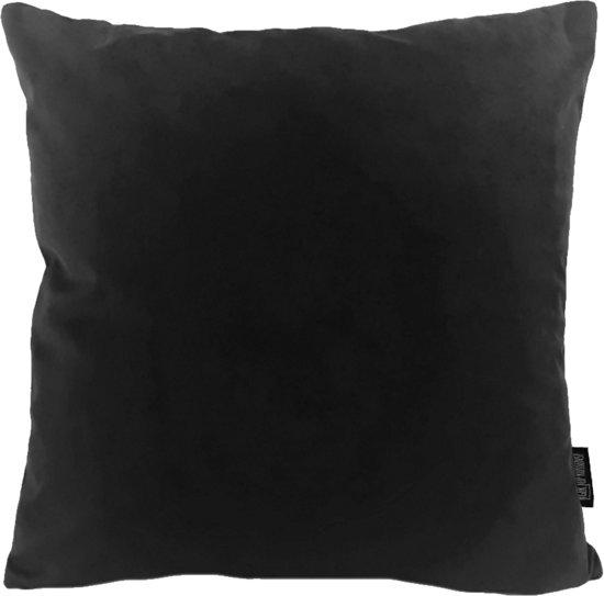 Velvet Black Kussenhoes | Fluweel - Polyester | 45 x 45 cm | Zwart
