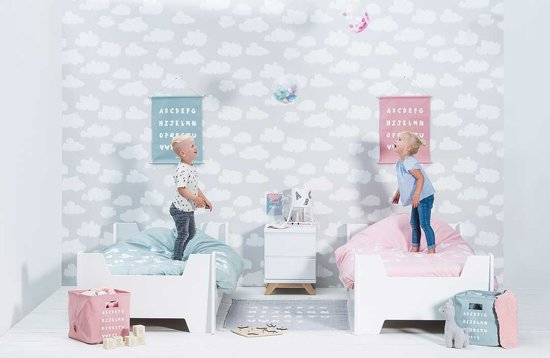 Jollein Overtrek ABC Blush Pink 140x200cm