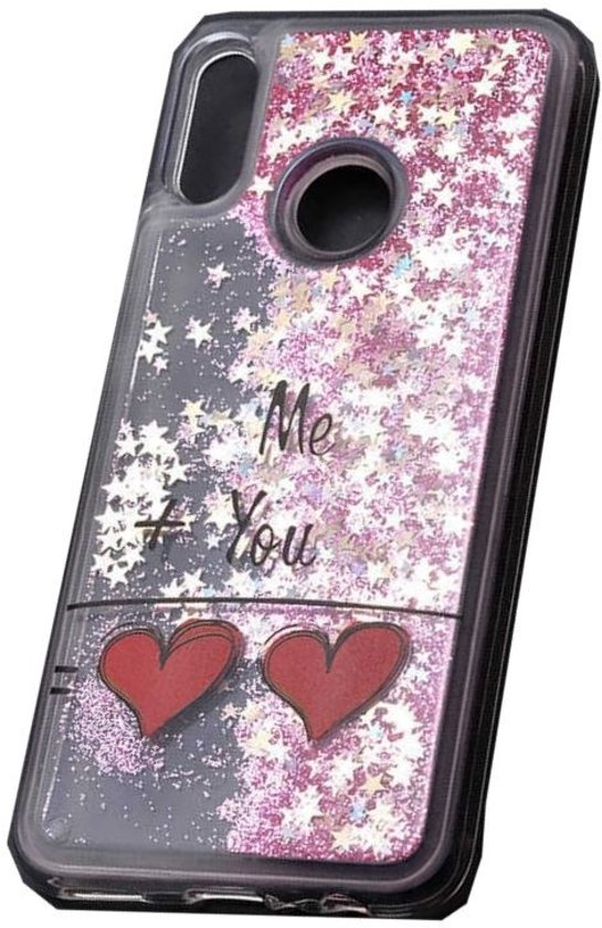 Teleplus Huawei P Smart 2019 Water Patterned Silicone Case Pink hoesje