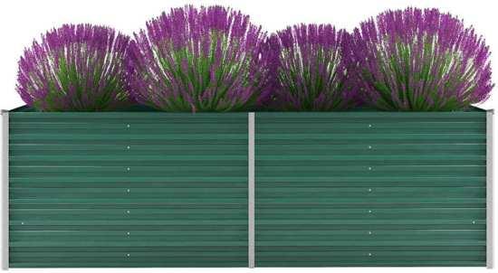 Plantenbak gegalvaniseerd staal Groen voor Buiten 240x80x77cm / Planten Bak voor Tuin / Planten bakken voor tuin / Bakken voor planten