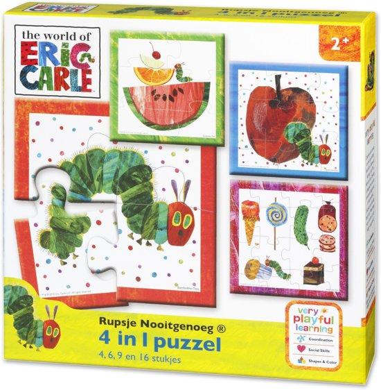 Rupsje Nooitgenoeg 4 in 1 puzzel (4+6+9+16)