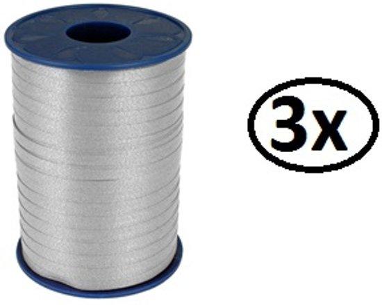 3x krullint zilver 5mmx500meter