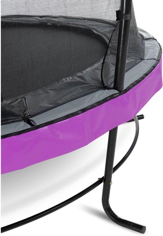 EXIT Elegant trampoline ø366cm met veiligheidsnet Economy - paars