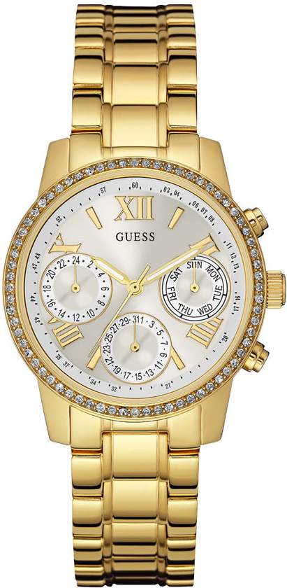 GUESS Watches W0623L3 Mini Sunrise - Horloge - 36.5 mm - Goudkleurig