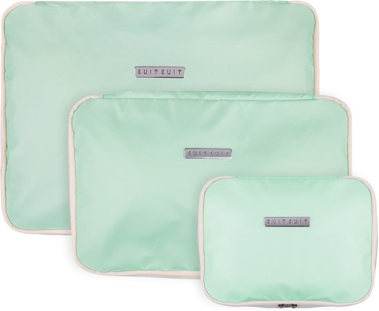 SUITSUIT Fabulous Fifties Packing Cube Set (S-M-L) - Luminous Mint