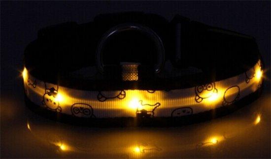 Hondenriem Met Licht : Bol led licht honden halsband geel l standen