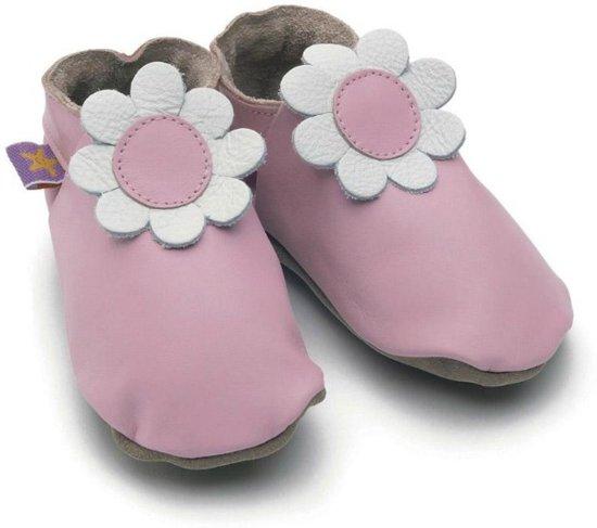 Starchild babyslofjes daisy baby pink Maat: S (11 cm)