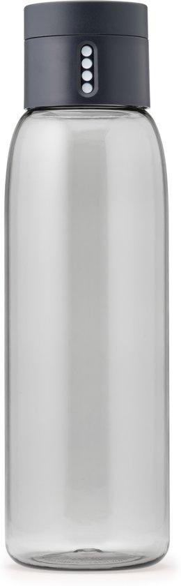 Joseph Joseph Dot Hydration Waterfles - Incl. Afleesfunctie - 600ml - Grijs