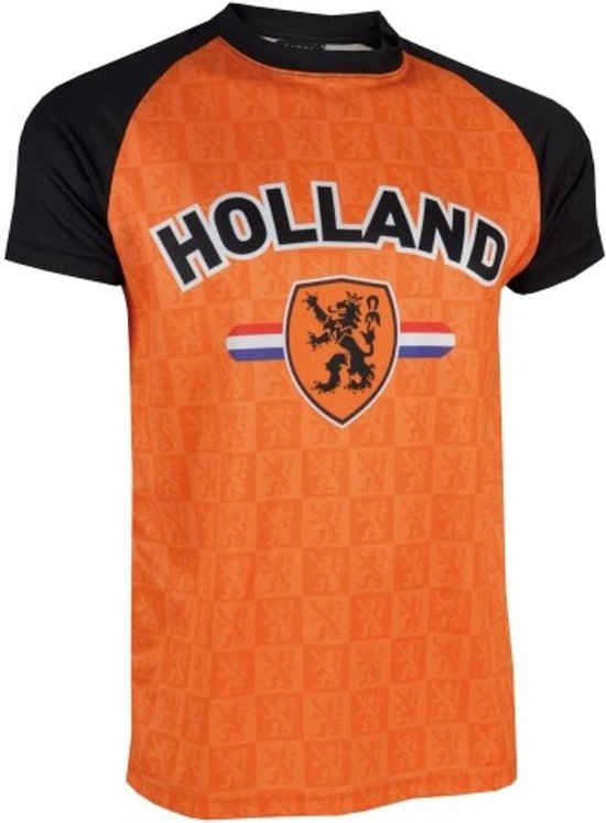 Nederland T-shirt Zwarte Mouw Holland Maat Xxl
