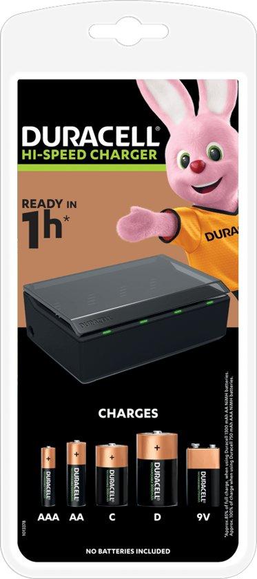 Duracell Multi batterijlader CEF 22 geschikt voor AA / AAA / 9V / C / D batterijen (excl. batterijen)
