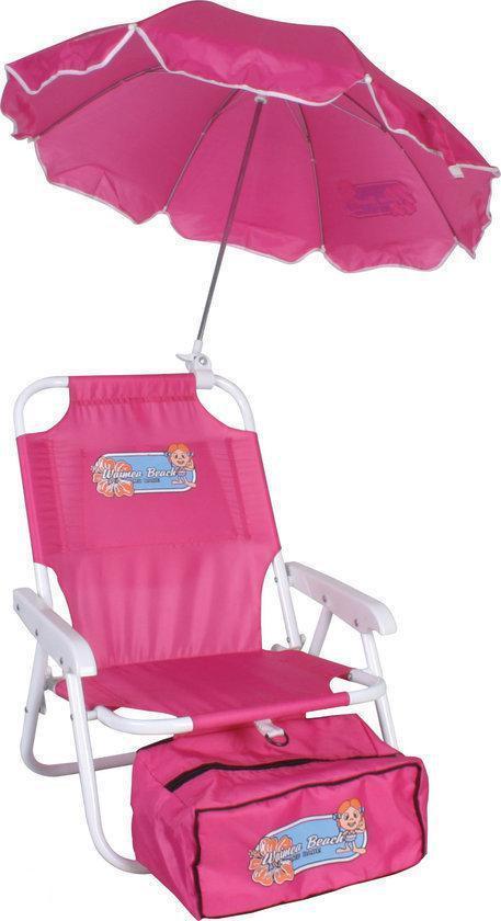 Strandstoel Met Parasol.Strand Stoel Met Parasol Kinder Roze