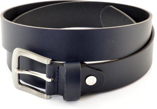 XXL Belts Heren,Damesriem Jeans 673 - donkerblauw - 175 cm