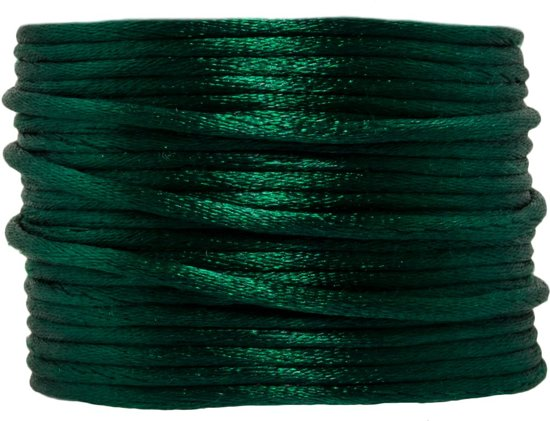 Satijnkoord (2 mm) Pine Green (15 Meter)