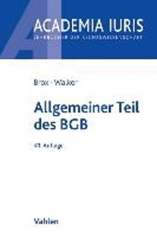 book-image-Allgemeiner Teil des BGB
