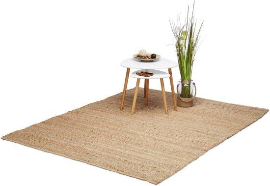 Tapijt In Woonkamer : Bol relaxdays jute tapijt woonkamer vloerkleed