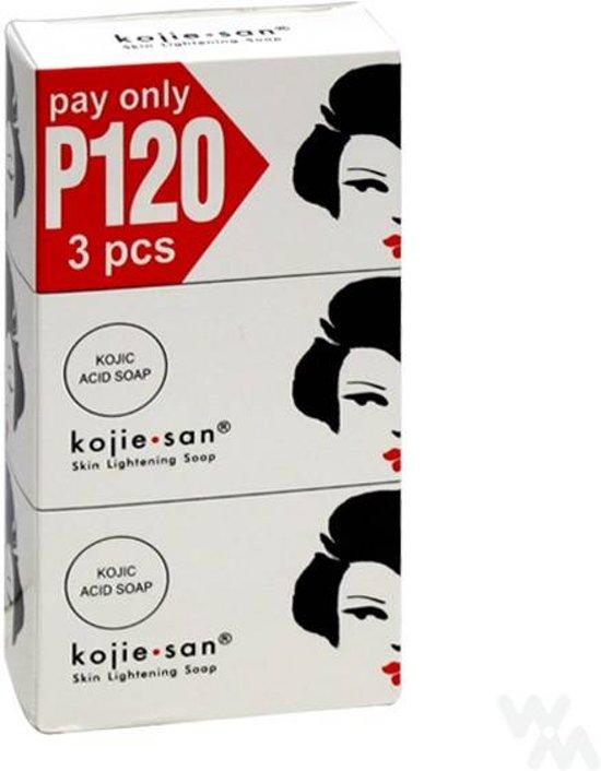Kojie San Kojic Acid Zeep  3 x 100 gr.