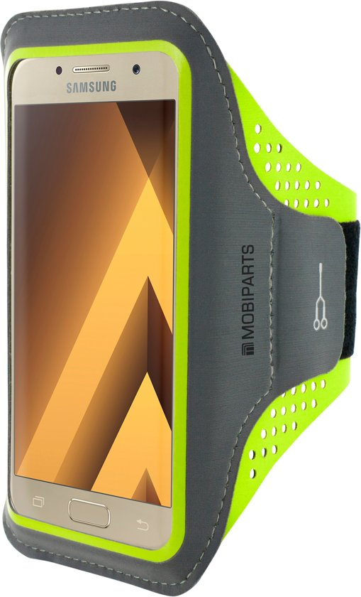 Mobiparts Comfort Fit Sport Armband Samsung Galaxy A3 (2017) Neon Green in Akkerput