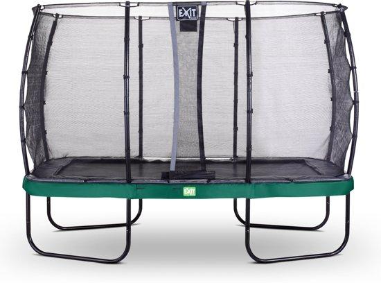 EXIT Elegant Premium trampoline 244x427cm met veiligheidsnet Deluxe - groen