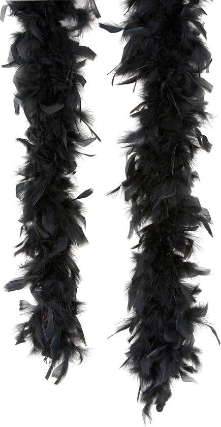 Zwarte boa - Verkleedattribuut