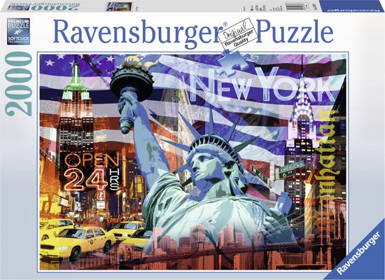 Ravensburger puzzel New York Collage - Legpuzzel - 2000 stukjes