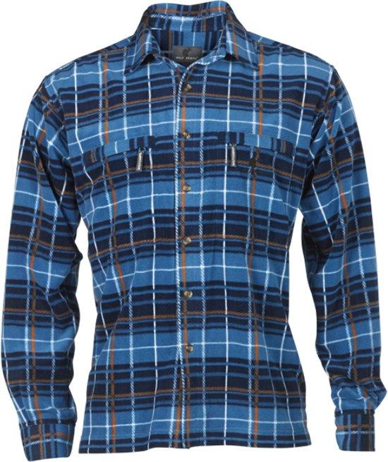 Heren Wolf Blauw Camper Fleece Shirt Highland RSqErwS