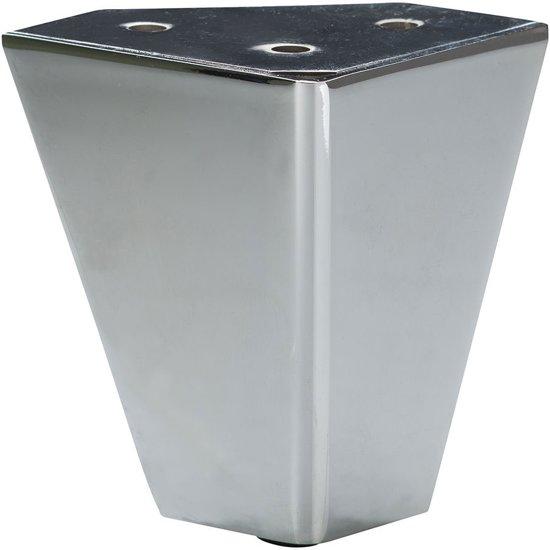 Chromen design meubelpoot 10 cm