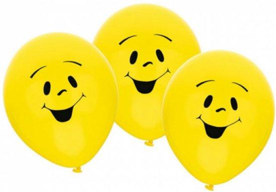 Riethmüller  Smiley feest ballon geel Ø 22 cm - Set-6 Valentinaa