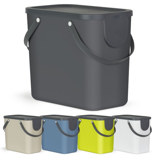 Design Afvalemmer Rotho.Rotho Afvalscheidingsprullenbak Albula 25 Liter Cappuccino