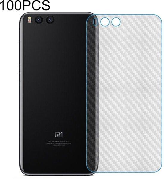 Let op type!! 100 PCS Carbon Fiber materiaal Skin sticker terug beschermende film voor Xiaomi Note 3