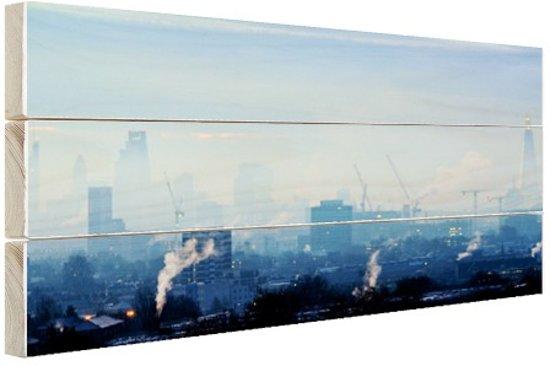 Bol.com industrieel londen hout 80x60 cm foto print op hout