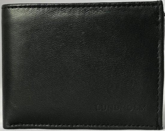 e9906e23497 Lundholm - Leren Portemonnee Heren - zeer soepel nappa leer - zwart
