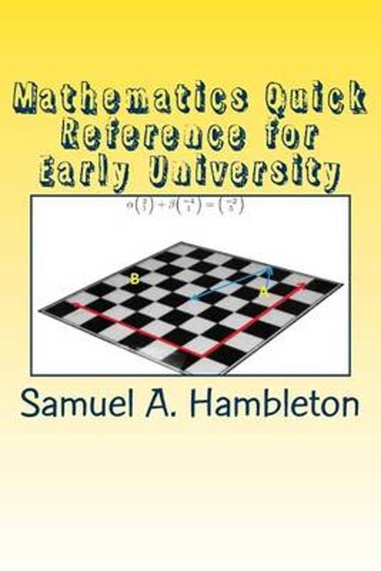 Mathematics Quick Reference for Early University