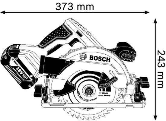 Bosch Professional GKS 18V-57 G Batterij cirkelzaagmachine - Met 2x GBA 18V 5,0Ah batterijen, lader en L-BOXX